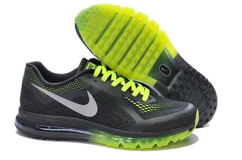 Nike Air Max 2014 Mens Running Shoes Black Electric Green