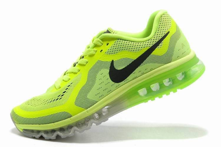 Nike Air Max 2014 Mens Running Shoes Fluorescence Green Black
