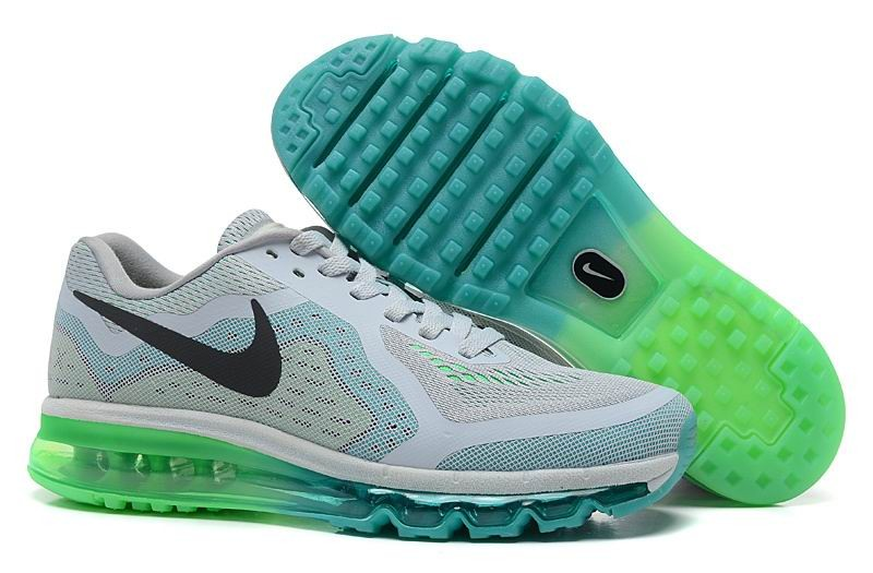 Nike Air Max 2014 Mens Running Shoes Grey Green Light Blue