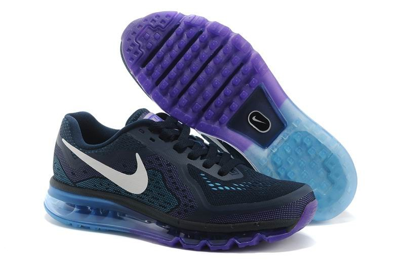Nike Air Max 2014 Mens Running Shoes Obsidian Sail Purple Venom Vivid Blue