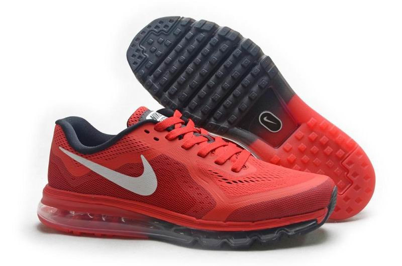 Nike Air Max 2014 Mens Running Shoes Red White Black