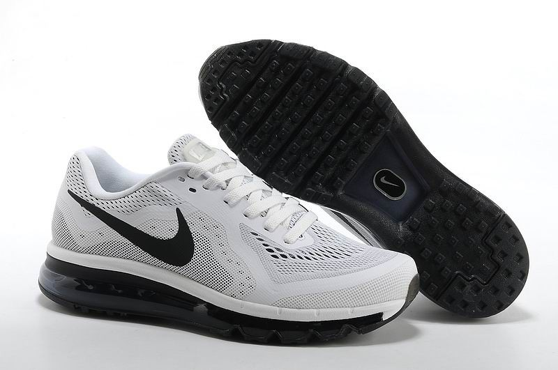 Nike Air Max 2014 Mens Running Shoes White Black