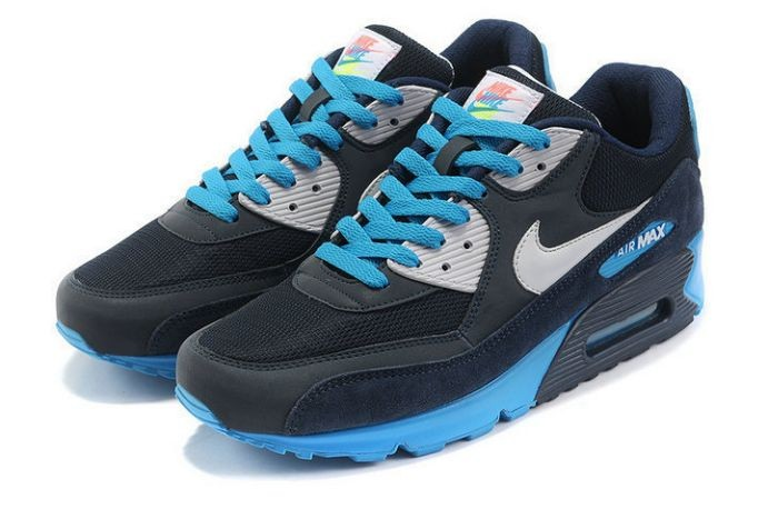 Nike Air Max 90 Essential Mens Trainers Anthracite Navy Blue
