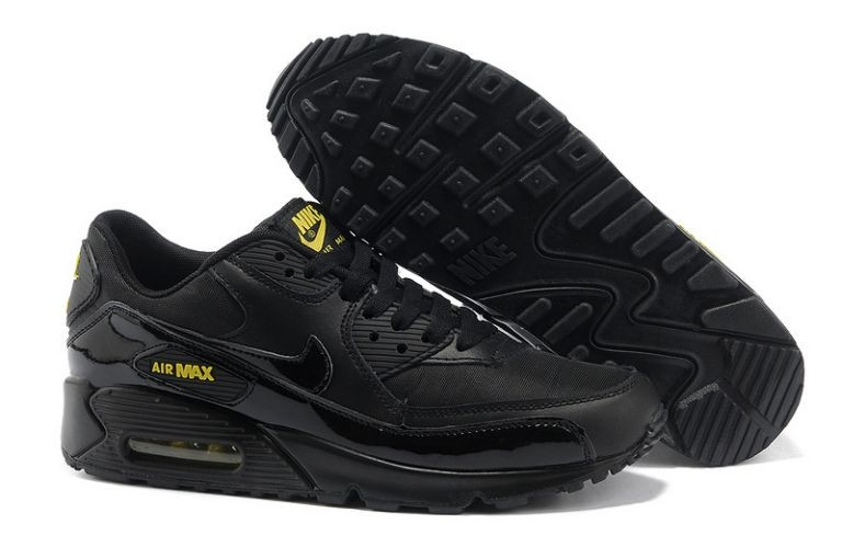 Nike Air Max 90 Essential Mens Trainers Black Golden Sash