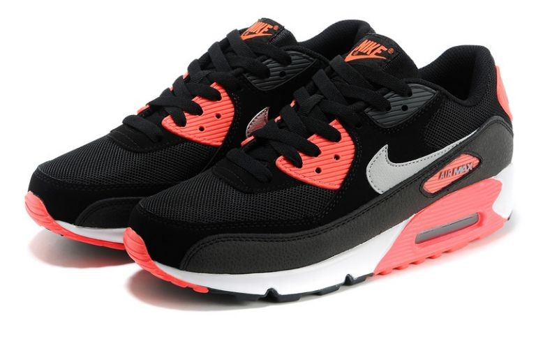 Nike Air Max 90 Essential Mens Trainers Black Grey Infrared