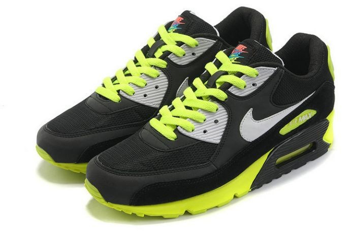 Nike Air Max 90 Essential Mens Trainers Black Grey Volt