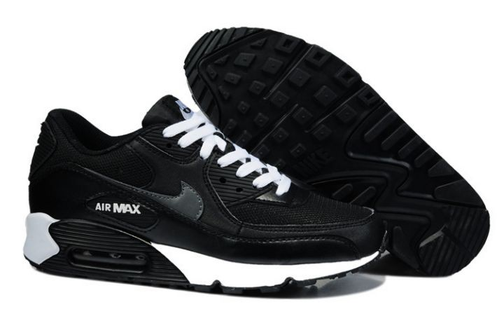 Nike Air Max 90 Essential Mens Trainers Black Grey White