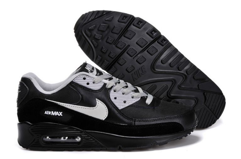 Nike Air Max 90 Essential Mens Trainers Black Grey