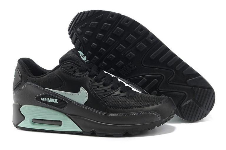 Nike Air Max 90 Essential Mens Trainers Black Mint Candy Dark Grey