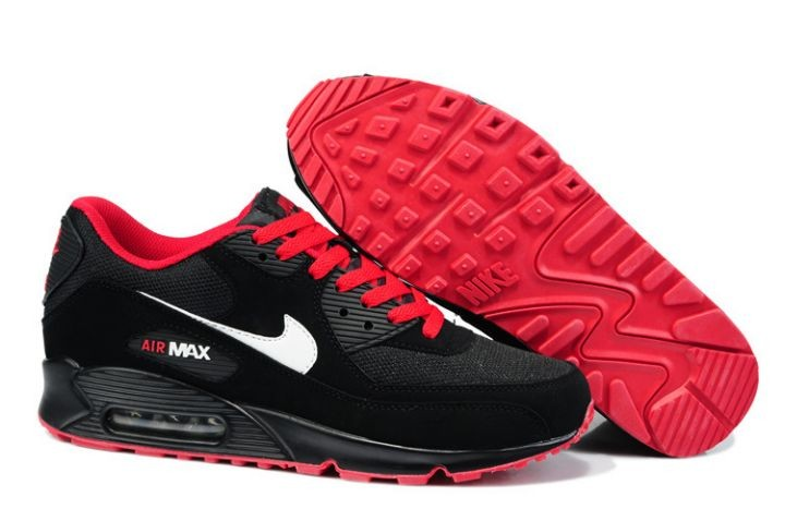 Nike Air Max 90 Essential Mens Trainers Black Red