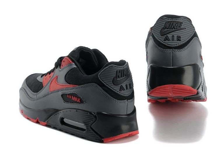 Nike Air Max 90 Essential Mens Trainers Black Siren Red Anthracite