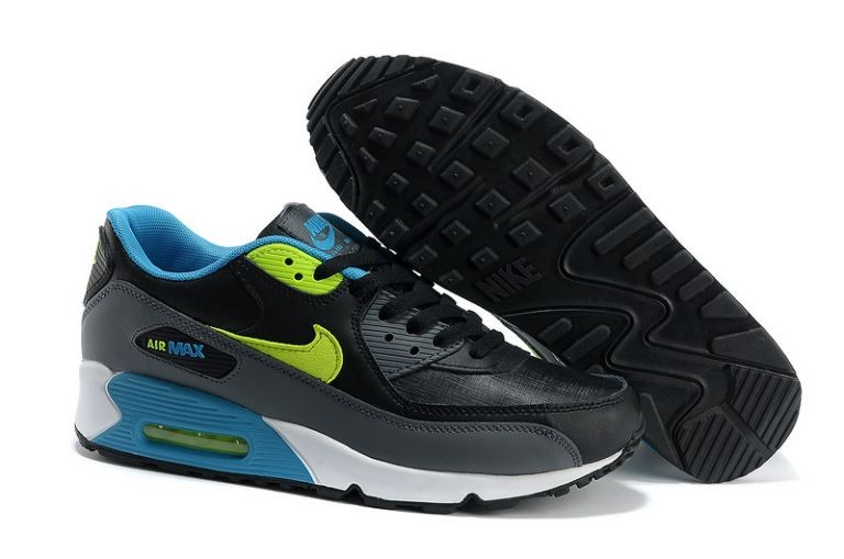 Nike Air Max 90 Essential Mens Trainers Black Volt White Neo Turquoise