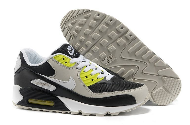 Nike Air Max 90 Essential Mens Trainers Black White Volt Neutral Grey