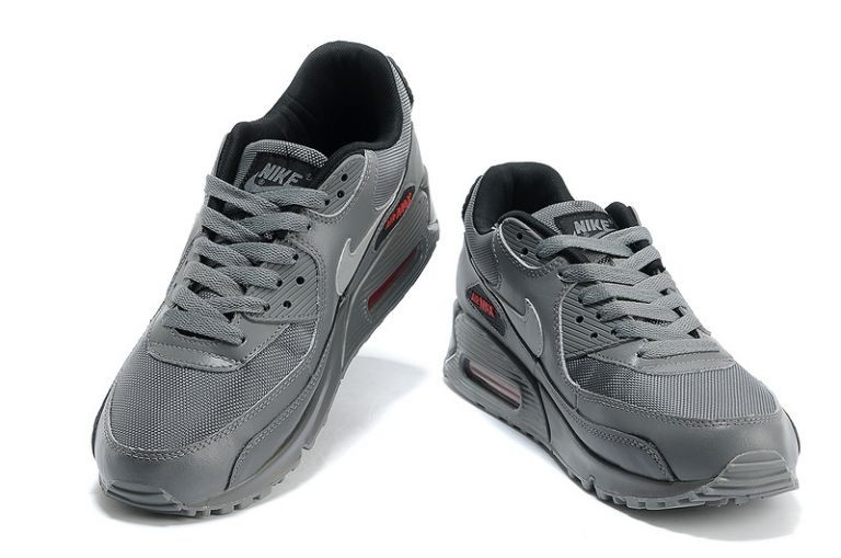 Nike Air Max 90 Essential Mens Trainers Charcoal Gym Red Anthracite