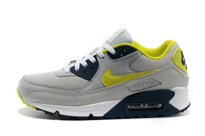 Nike Air Max 90 Essential Mens Trainers Cool Grey Black Volt