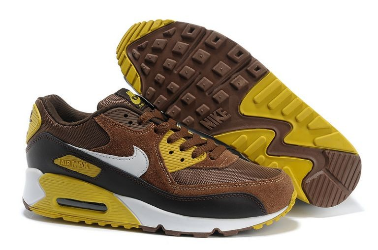 Nike Air Max 90 Essential Mens Trainers Dark Khaki Vivid Sulfur