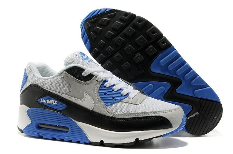 Nike Air Max 90 Essential Mens Trainers Grey White Black Blue