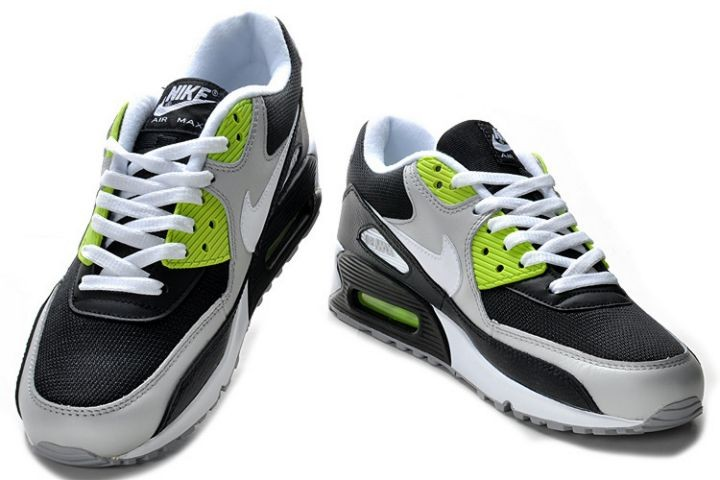 Nike Air Max 90 Essential Mens Trainers Grey White Black Volt