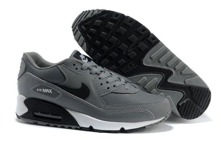 Nike Air Max 90 Essential Mens Trainers Leather Cool Grey Black White