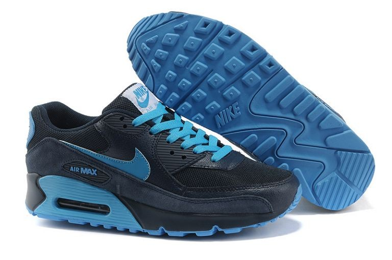 Nike Air Max 90 Essential Mens Trainers Midnight Navy Soar