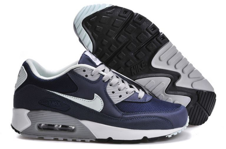 Nike Air Max 90 Essential Mens Trainers Navy Fiberglass