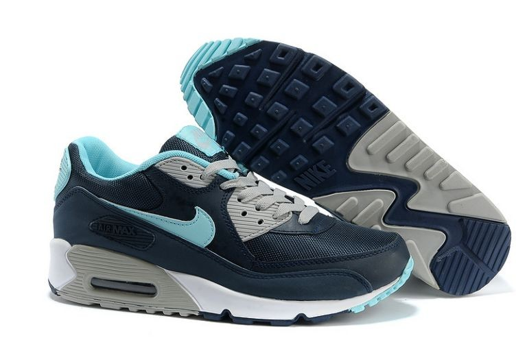 Nike Air Max 90 Essential Mens Trainers Obsidian Turquoise Grey