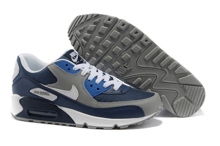 Nike Air Max 90 Essential Mens Trainers Obsidian Wolf Grey Photo Blue