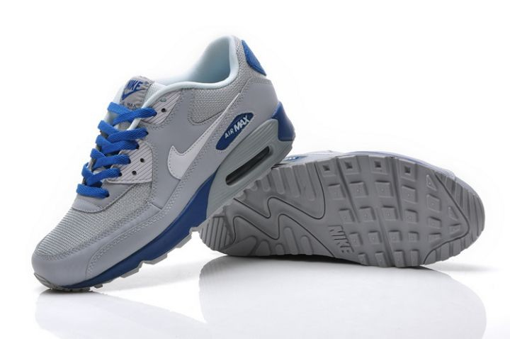 Nike Air Max 90 Essential Mens Trainers Sport Grey Blue
