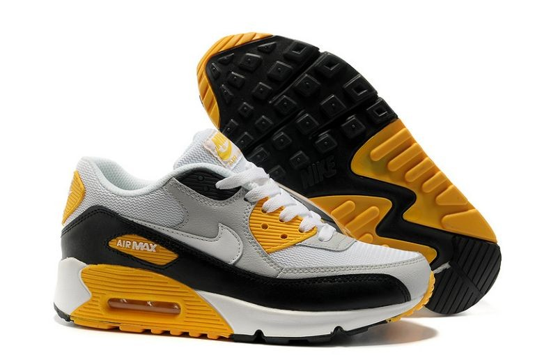 Nike Air Max 90 Essential Mens Trainers Sport Grey White Black Maize