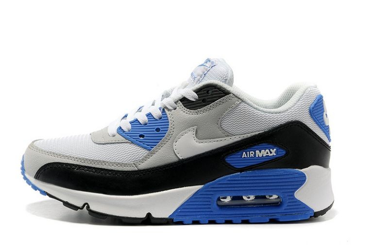 Nike Air Max 90 Essential Mens Trainers Sport Grey White Black Photo Blue