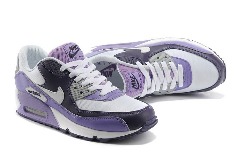 Nike Air Max 90 Essential Mens Trainers White Midnight Club Purple