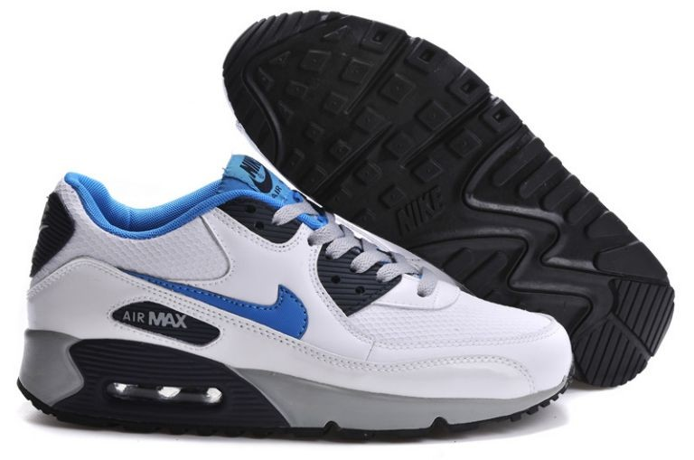 Nike Air Max 90 Essential Mens Trainers White Neon Turquoise