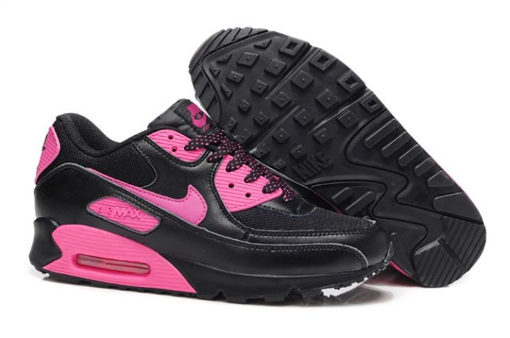 Nike Air Max 90 Essential Womens Trainers Black Pink Foil