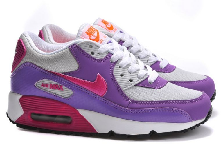 Nike Air Max 90 Essential Womens Trainers Club Purple Grey Pink