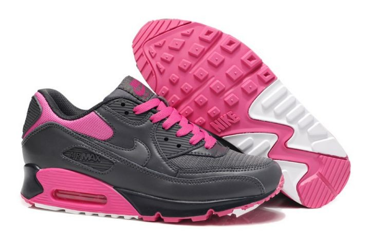 Nike Air Max 90 Essential Womens Trainers Dark Grey Pink Foil