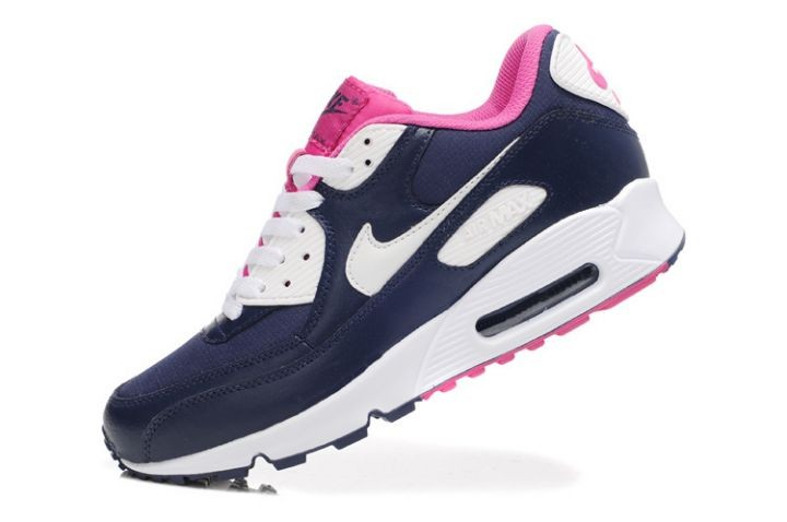 Nike Air Max 90 Essential Womens Trainers Midnight Navy White Pink