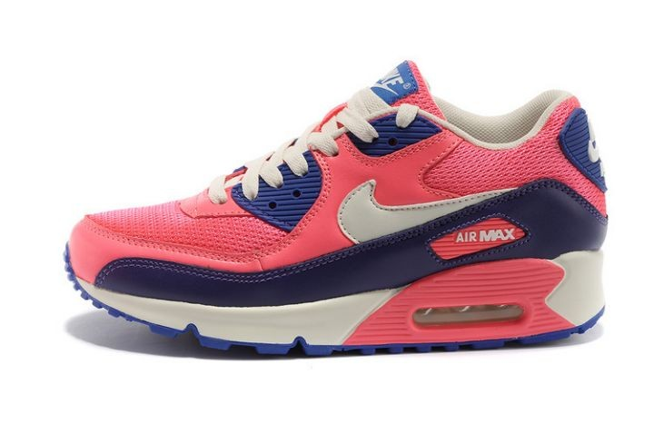 Nike Air Max 90 Essential Womens Trainers Pink Flash White Purple