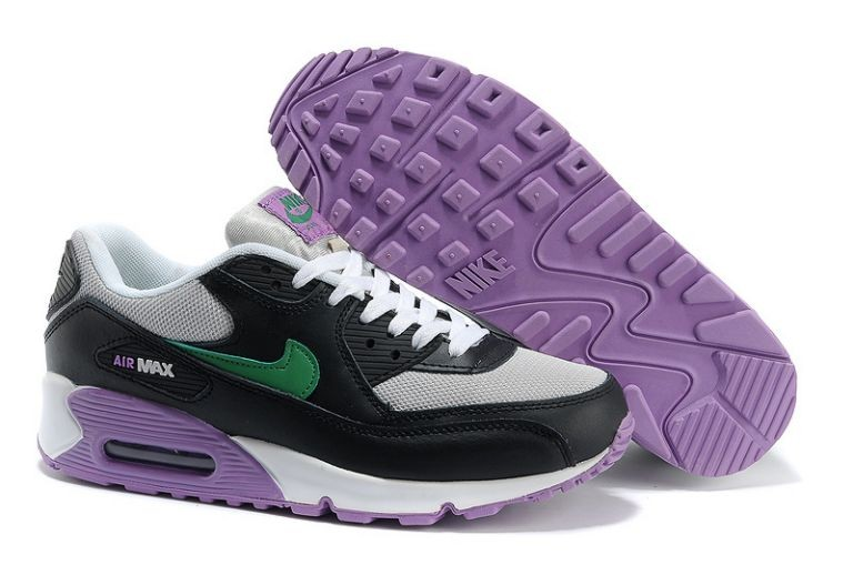Nike Air Max 90 Essential Womens Trainers Strata Grey Night Stadium Atomic Purple