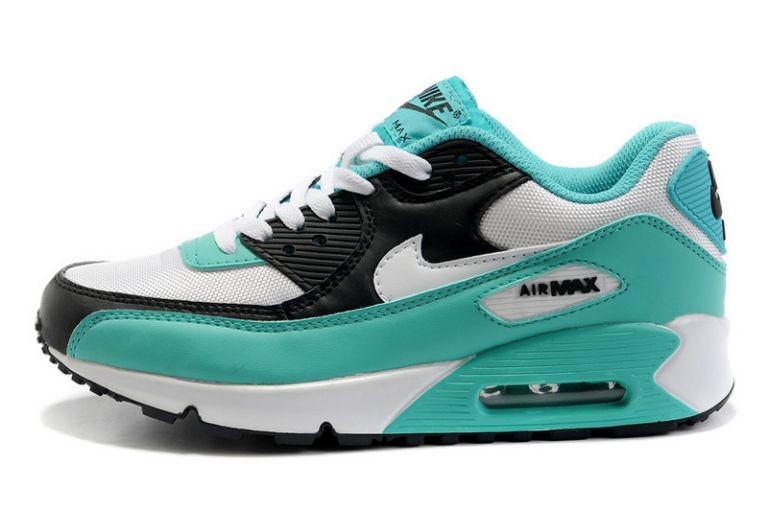 Nike Air Max 90 Essential Womens Trainers White Black Turquoise
