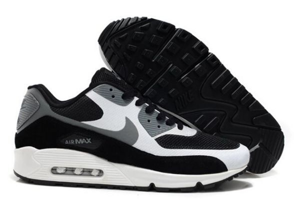 Nike Air Max 90 Hyperfuse Premium Mens Shoes Black White Cool Grey