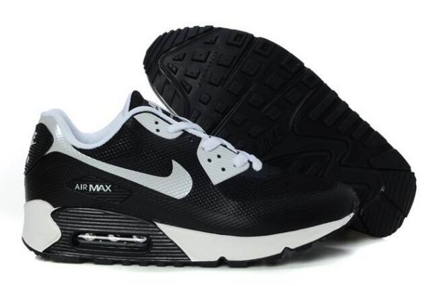 Nike Air Max 90 Hyperfuse Premium Mens Shoes Black White