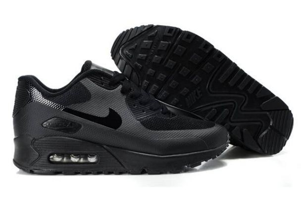 Nike Air Max 90 Hyperfuse Premium Mens Shoes Blackout