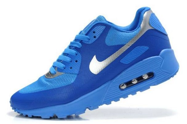 Nike Air Max 90 Hyperfuse Premium Mens Shoes Blue Glow