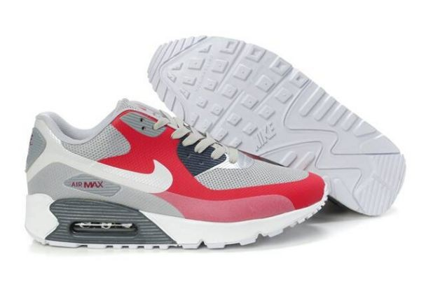 Nike Air Max 90 Hyperfuse Premium Mens Shoes Grey Pink Silver White