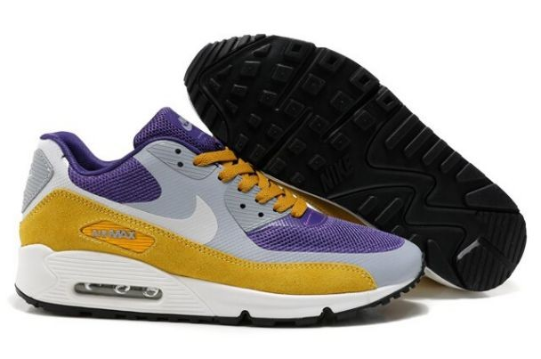 Nike Air Max 90 Hyperfuse Premium Mens Shoes Purple Cool Grey Brown