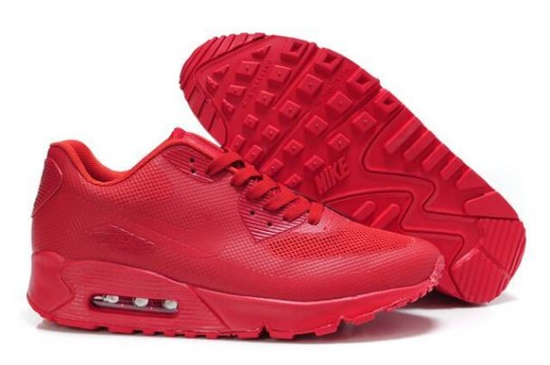 Nike Air Max 90 Hyperfuse Premium Mens Shoes Solar Red
