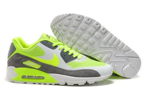 Nike Air Max 90 Hyperfuse Premium Mens Shoes Volt Wolf Grey