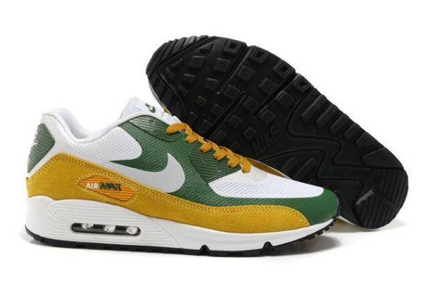 Nike Air Max 90 Hyperfuse Premium Mens Shoes White Green Brown