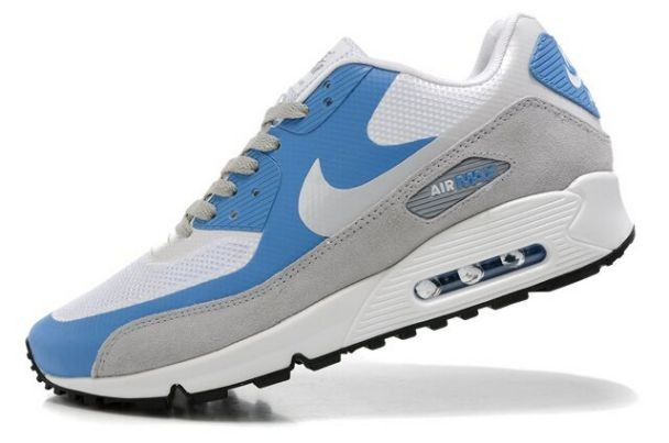 Nike Air Max 90 Hyperfuse Premium Mens Shoes White Photo Blue Wolf Grey