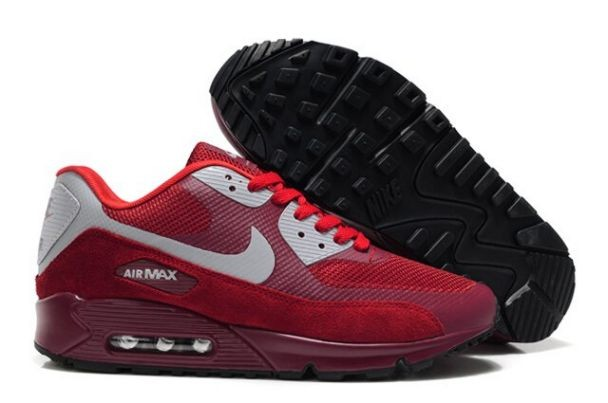 Nike Air Max 90 Hyperfuse Premium Mens Shoes Wine Red
